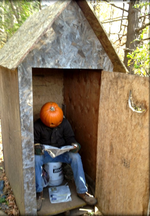 Pumpkin Head Outhouse